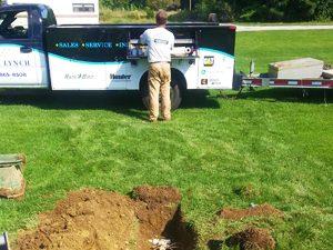 Irrigation system installation in Millbury, Massachusetts
