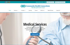 screenshot of the Community Health Connections website