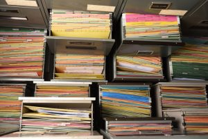 image of drawers full of files